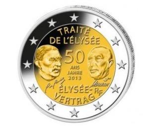 Münze 50 Jahre Elysee-Vertrag