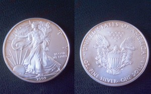 Anlagemünze American Eagle 1 Dollar Fine Silver